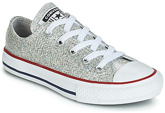 Converse CHUCK TAYLOR ALL STAR SPARKLE SYNTHETIC OX girls's Shoes (Trainers) in Grey