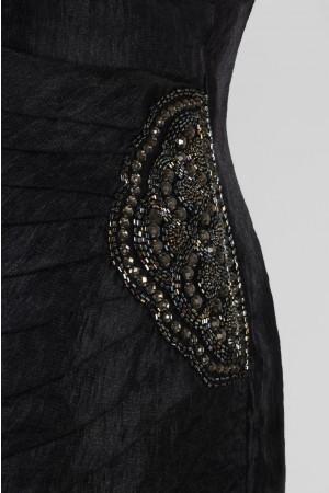 London Times L1330W Side Drape Shutter Cocktail Dress