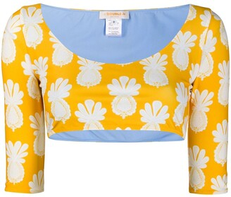 La DoubleJ Portofino crop surf top