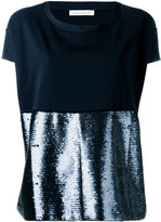 Stefano Mortari sequin panel top - women - Polyamide/Polyester/Spandex/Elastane/Viscose - 40