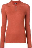 Jil Sander Navy knit zip sweater