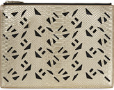 Kenzo Cut-out leather pouch