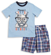 Kids Headquarters Boys 2-7 Two-Piece Printed Tee & Pants Set