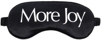 More Joy Logo Print Sleeping Eye Mask