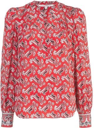 Veronica Beard paisley blouse