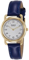 Burgi Women's BUR121BU Classic Two-hand Yellow Gold & Blue Leather Strap Watch