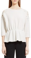 Chloé Women's Lace Trim Merino Wool & Cashmere Sweater