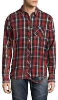 Hudson Plaid Cotton Casual Button-Down Shirt