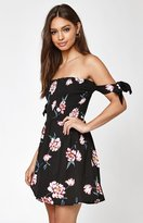 KENDALL + KYLIE Kendall & Kylie Off-The-Shoulder Tulip Tie Strap Dress