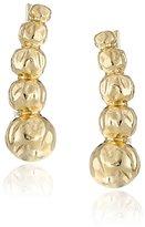 Sam Edelman Crinkle Gold Metal Ear Crawlers Earrings