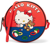 Olympia Le-Tan Teddy Bear Dizzie Appliquéd Cotton-canvas Shoulder Bag - Red