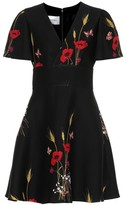 Valentino Floral silk and wool dress
