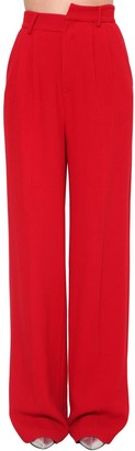 Annakiki High Waist Wide Leg Wool Blend Pants