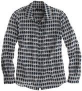 J.Crew Silk boy blouse in owl print