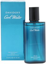 Davidoff Cool Water By For Men. Mild Deodorant Spray 2.5 Ounces