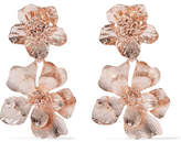 Oscar de la Renta Rose Gold-plated Clip Earrings