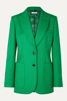 Bella Freud Saint James Wool-twill Blazer - Green