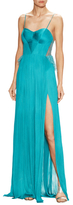 Maria Lucia Hohan Margarita Gathered Lace Trimmed Gown
