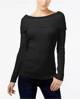 INC International Concepts Petite Ribbed Boat-Neck Sweater, Only at Macy's
