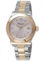 Salvatore Ferragamo Men's FF3900015 1898 Gold Ion Plated and Stainless Steel Watch