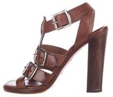 Alaia Buckle-Accented Leather Sandals
