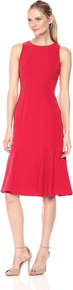 Maggy London Women's Novelty Crepe Sleeveless Fit and Flare