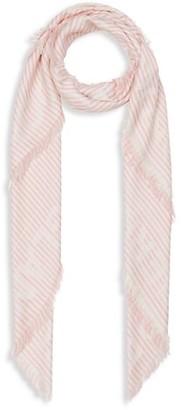 Burberry Striped Logo Jacquard Large Square Scarf