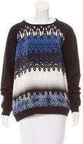 Tibi Silk Paneled Sweatshirt