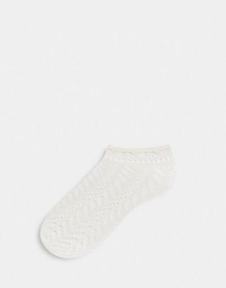 Gipsy Arrow Pelerine Ankle Socks in cream