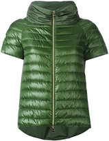 Herno short sleeve puffer jacket - women - Feather Down/Polyamide/Polyester - 44