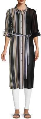 Calvin Klein Collection Striped Long-Sleeve Tunic