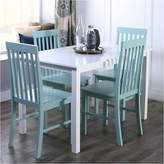 Asstd National Brand 5-Piece White Wood Kitchen Dining Set