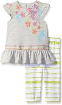 Petit Lem Little Girls Piece Set Tunic with Legging Tropical Fever