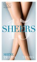 Marks and Spencer 3 Pair Pack 15 Denier Sheer Shine Tights