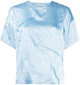 REJINA PYO Mattie Crinkle Satin T-shirt