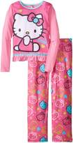 AME Sleepwear Little Girls' Hello Kitty Pajama Set
