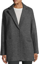 Lafayette 148 New York Oversized Wool Coat, Smoke