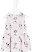 MonnaLisa cat printed dress - kids - Polyester/Spandex/Elastane - 6 mth