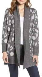 Cupcakes And Cashmere Leopard Pattern Long Cardigan
