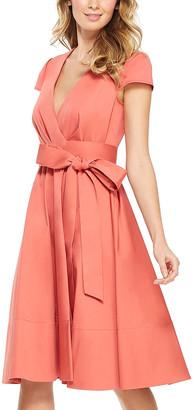 Gal Meets Glam Women's Casual Dresses DESERT - Desert Rose Addison Tie-Waist Cap-Sleeve Surplice Dress - Women & Juniors