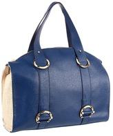 Ivanka Trump Alexis Top Zip Satchel (Navy) - Bags and Luggage