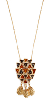 Tory Burch Triangle Pendant Necklace