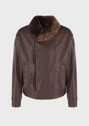 Giorgio Armani Leather Outerwear