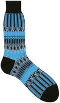 Ayame Basket Lunch Blue Cotton Blend Socks