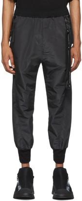 Julius Black Taffeta Track Pants