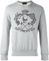 Alexander McQueen skull crest sweatshirt - men - Cotton - M
