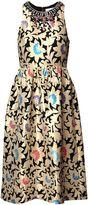 Matthew Williamson Gold Jacquard Midi Dress