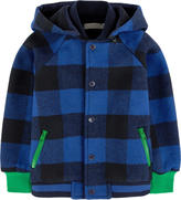 Stella McCartney Checked jacket with a removable hood