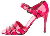 Prada Patent Leather Stiletto Sandals