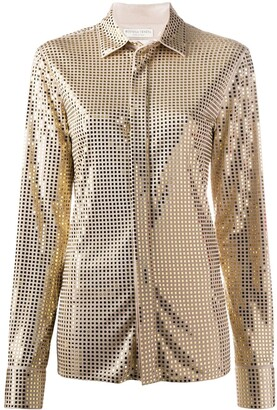 Bottega Veneta Mirror-Embellished Long-Sleeve Shirt